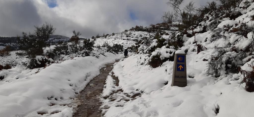 Chemin entre Villafranca et O Cebreiro