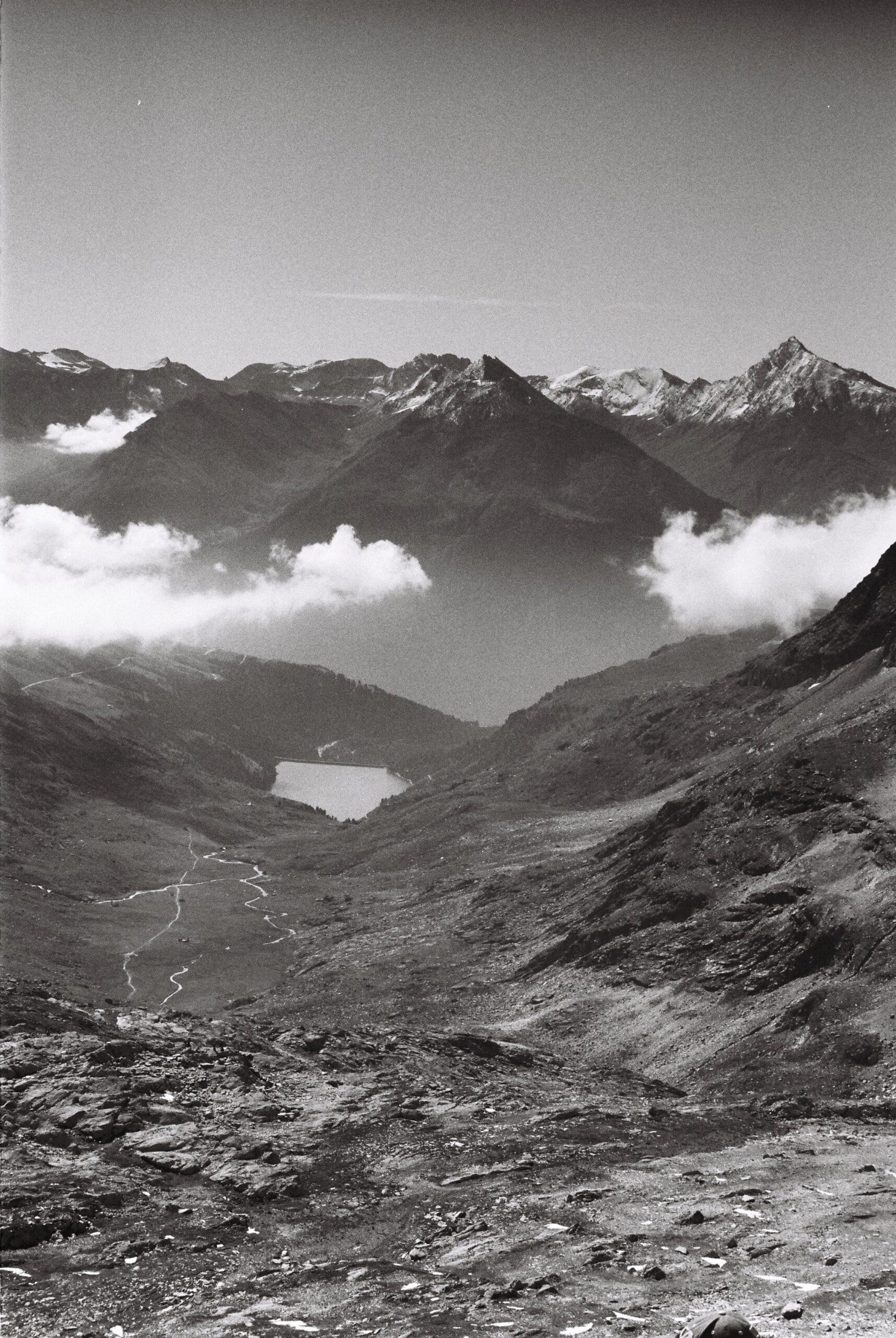 Vallée du Fond d'Aussois vue d'en haut dans la Vanoise