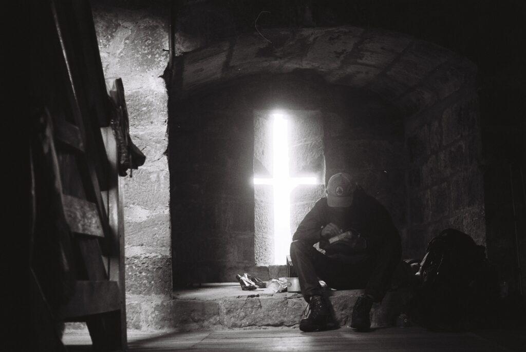 Autoportrait dans un château des Vosges