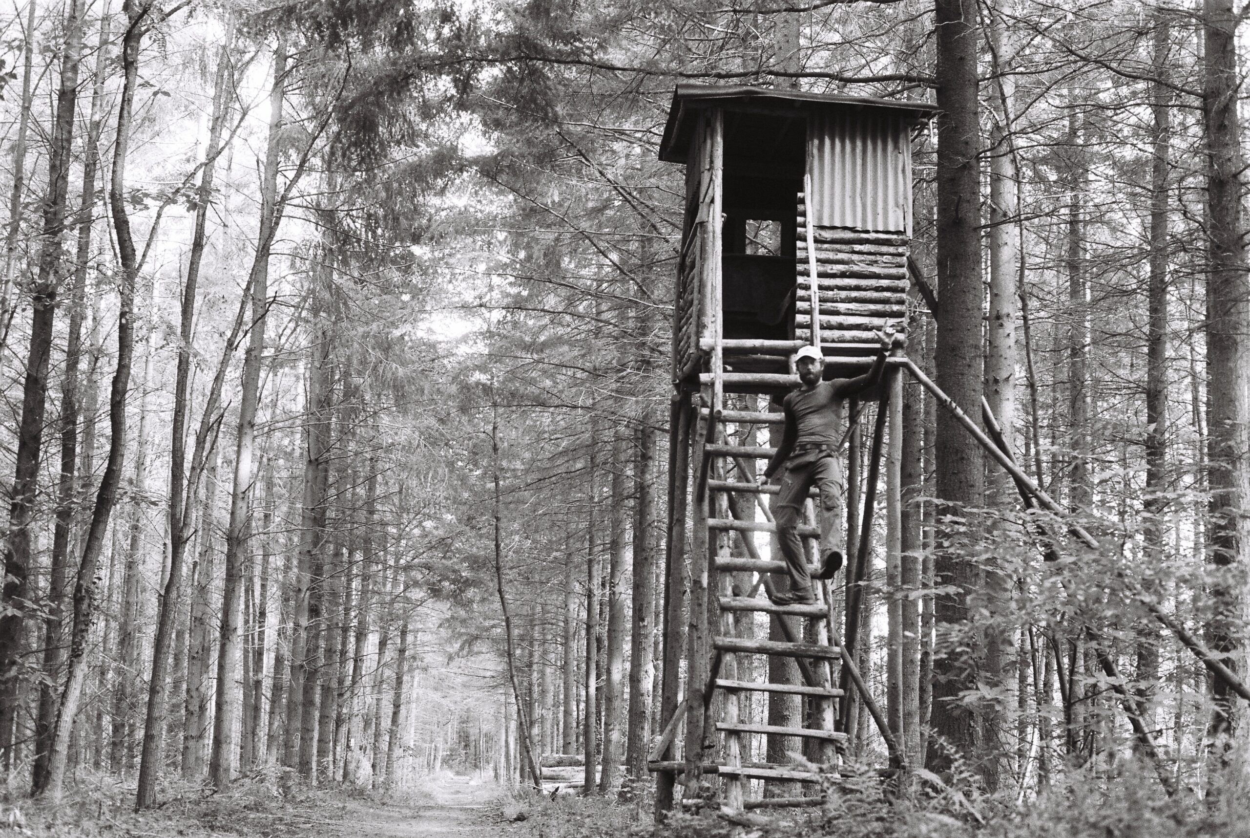 Autoportrait cabane en Alsace